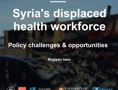Webinar: Syria's displaced health workforce, Wednesday January 27th
