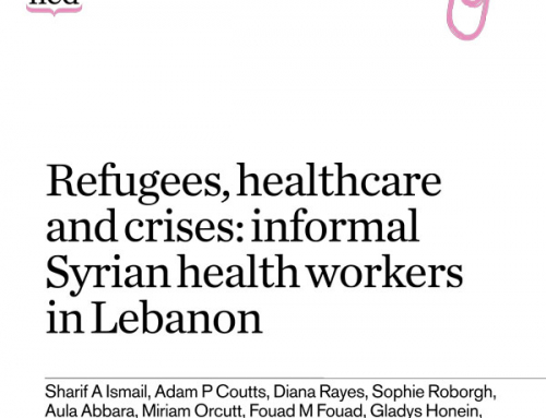 Refugees, healthcare and crises: informal Syrian health workers in Lebanon